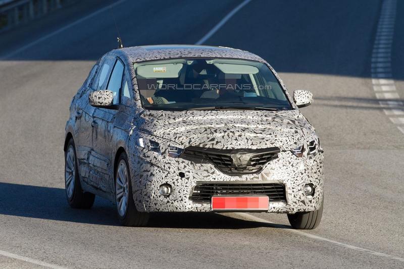 Renault Scenic шпионское фото