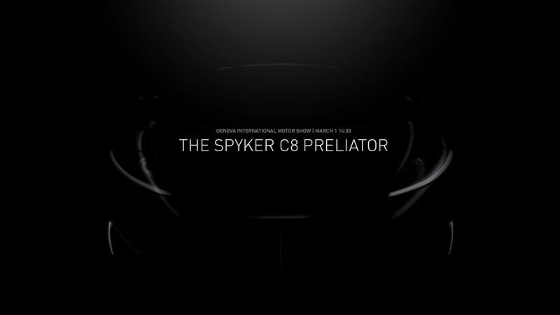 Spyker C8 Preliator тизер на Женевский автосалон