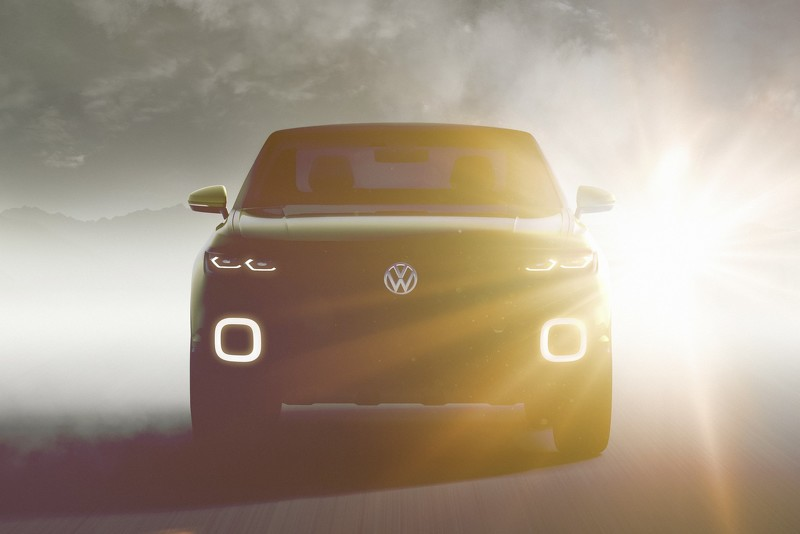 Volkswagen тизер маленького концепта внедорожника