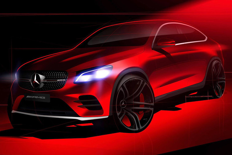 Mercedes GLC Coupe тизер