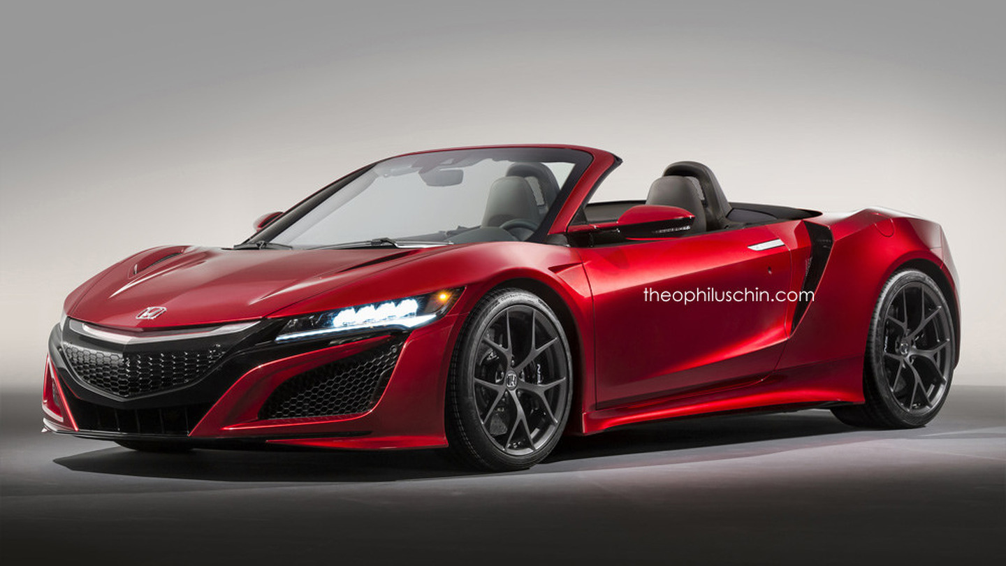 Acura NSX Roadster рендер от Theophilus Chin