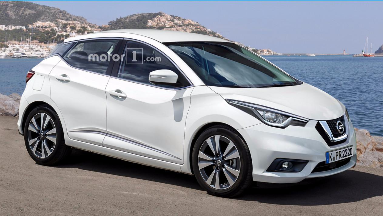 Nissan Micra 2017 неофициальный рендер