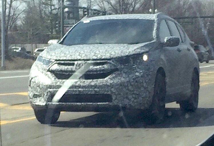 Honda CR-V шпионское фото следующего поколения