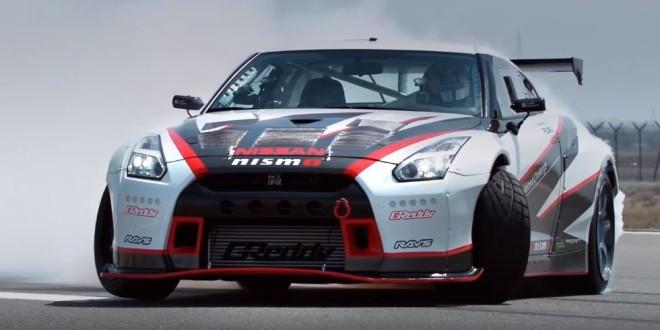 Видео дрифт-рекорда Nissan GT-R Nismo