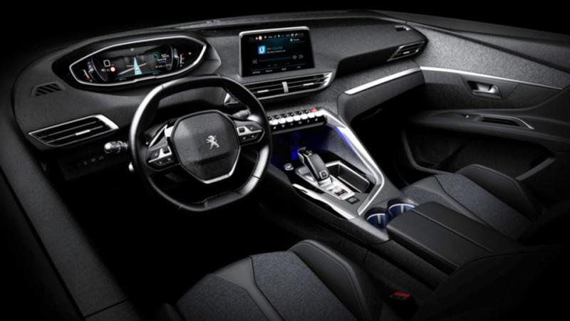 Peugeot 3008 2017 официальное фото интерьера (утечка)