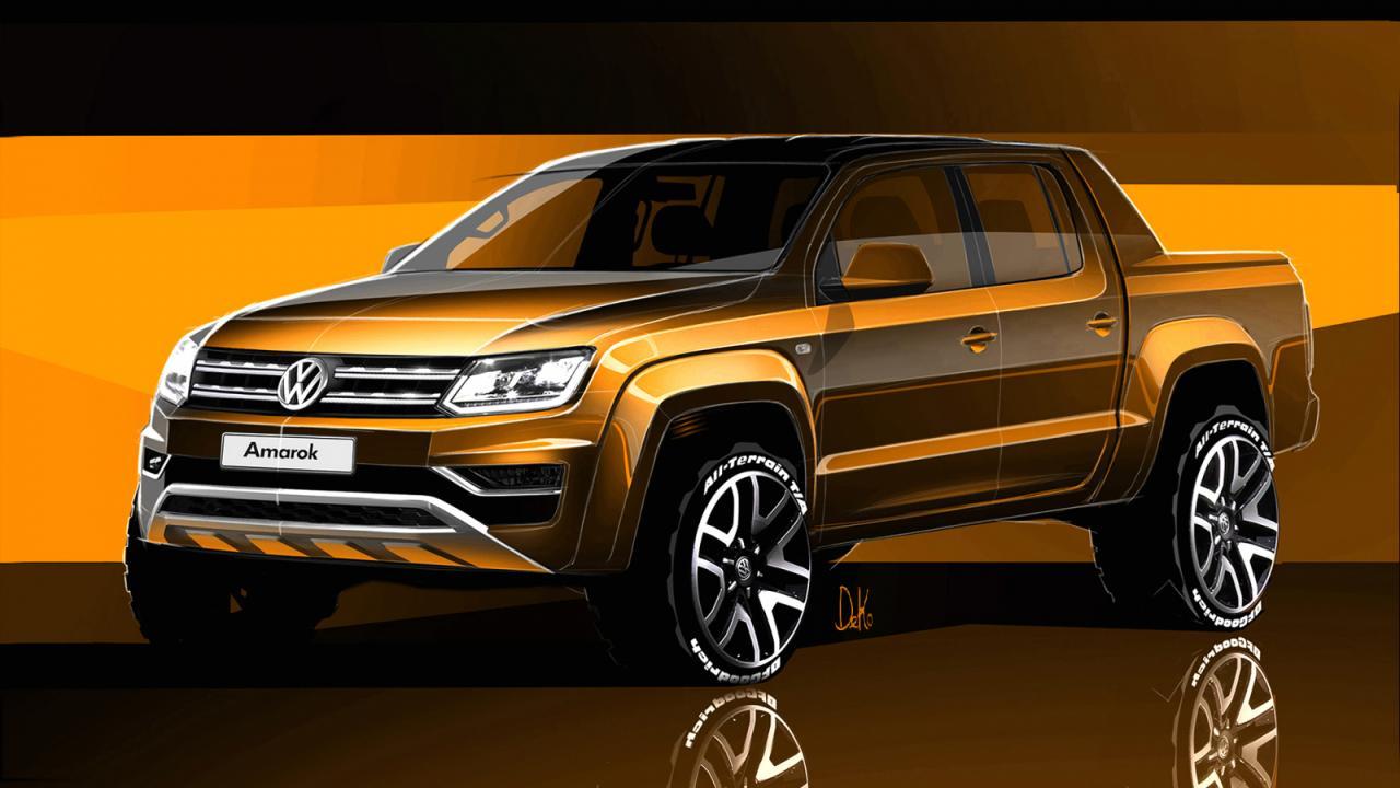 Volkswagen Amarok 2016 скетч-тизер анонс