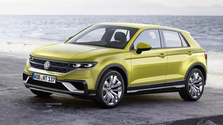 Volkswagen - кроссовер на базе Polo (рендер)
