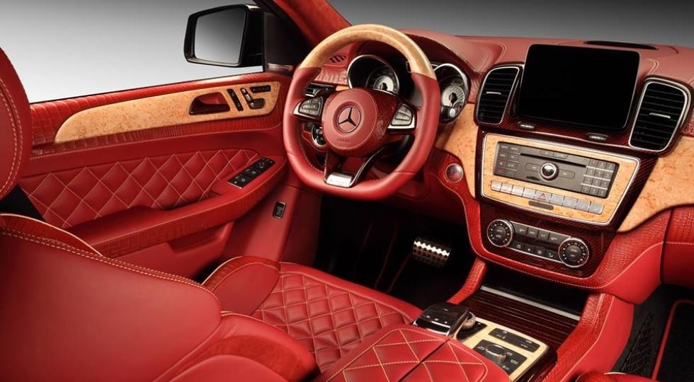 Mercedes GLE тюнинг от TopCar красный интерьер из крокодиловой кожи