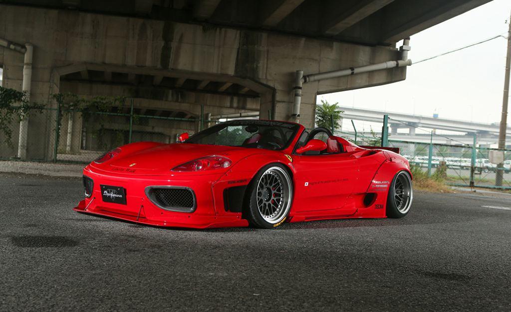 Ferrari 360 получила тюнинг Liberty Walk