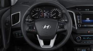 Hyundai Creta фото интерьера - рулевое колесо