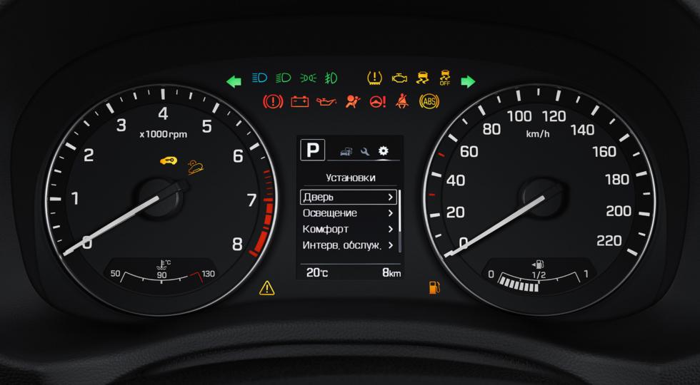 Hyundai Creta фото интерьера - комбинация приборов