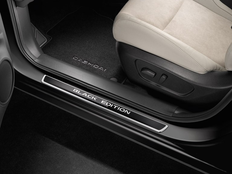 Nissan Qashqai Black Edition накладки на пороги