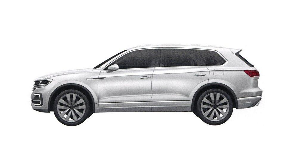 Volkswagen Touareg 2018 патентные изображения