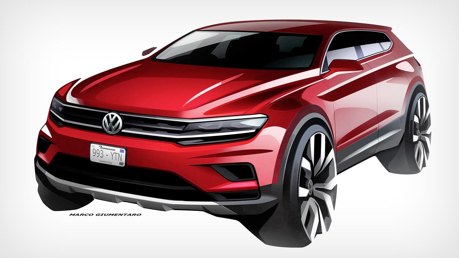Удлинённый VW Tiguan дебютирует вДетройте