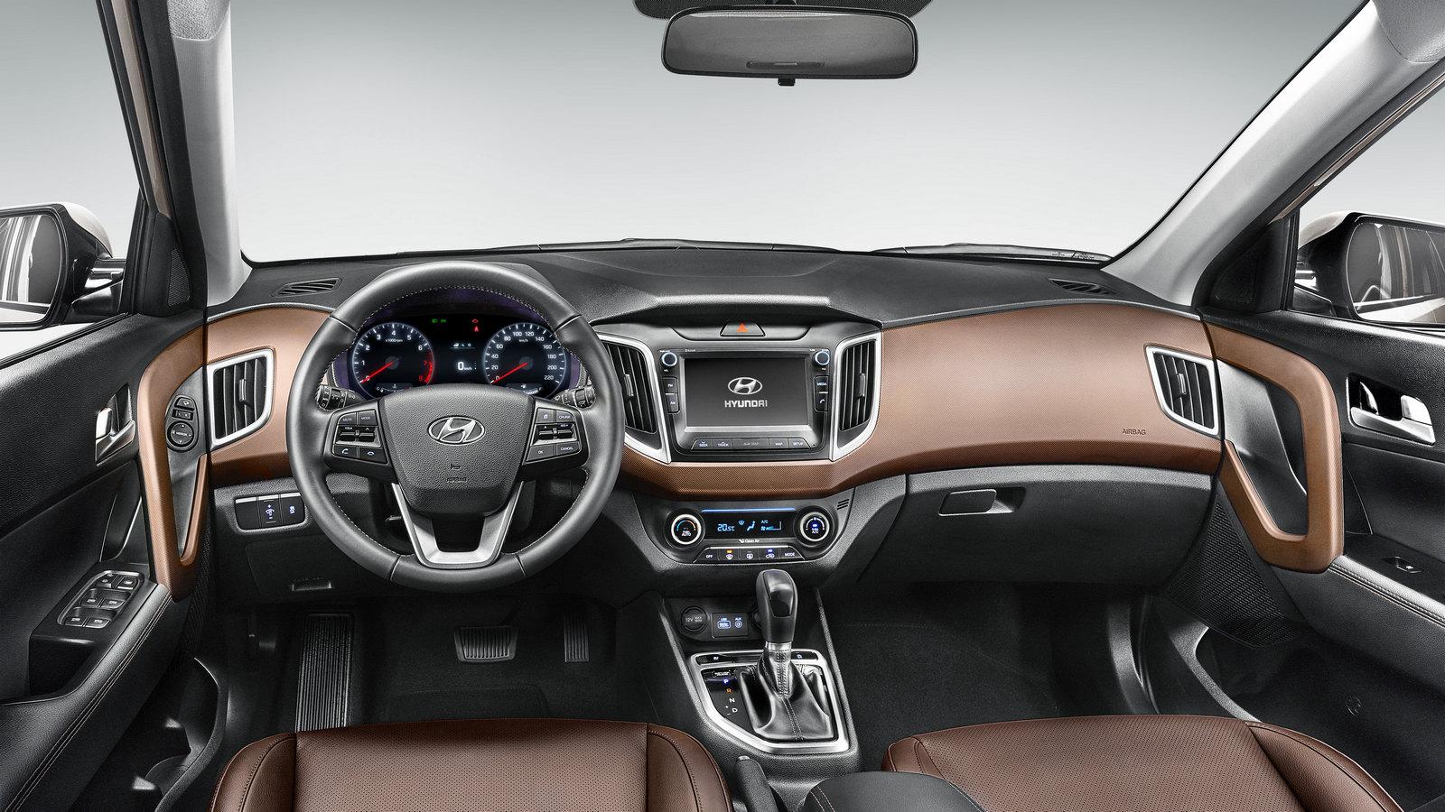 Интерьер Hyundai Creta (бразильская версия)