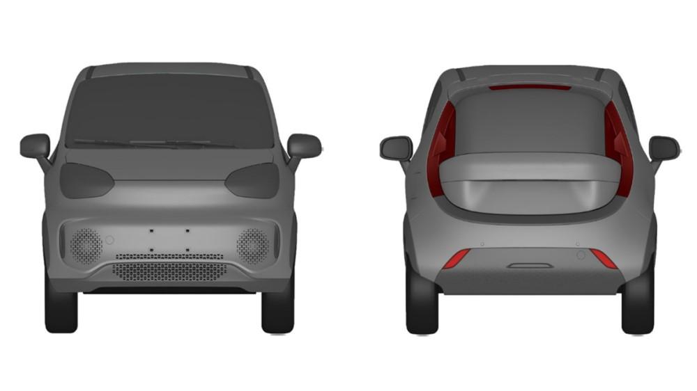 Zotye запатентовал новый компактный электромобиль