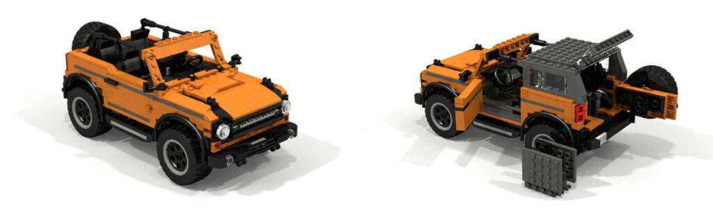 Инженер Ford собрал из Lego внедорожник Ford Bronco