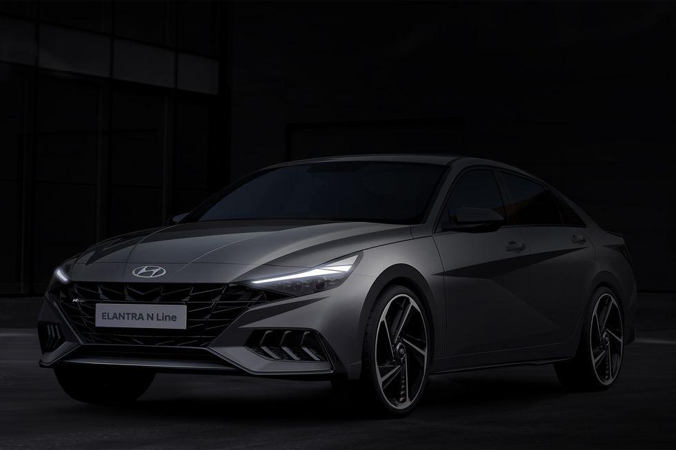 Hyundai опубликовала первые изображения спортивного седана Elantra N Line