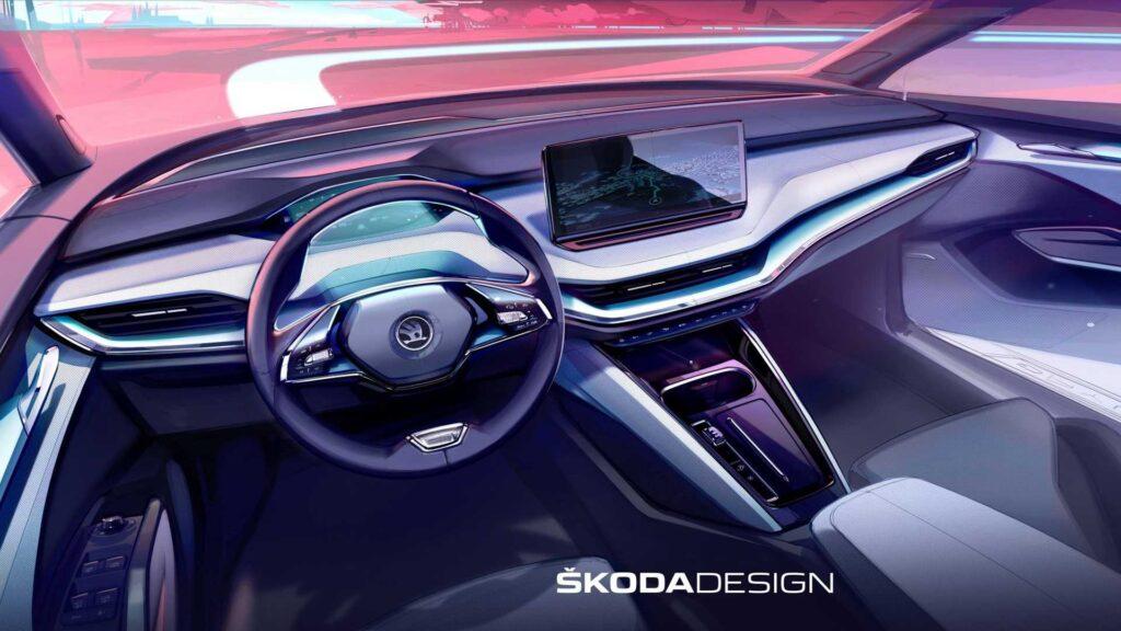 Skoda продемонстрировала интерьер нового Skoda Enyaq iV
