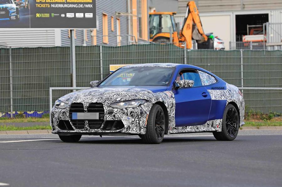 Новый BMW M4 2021 года поймали почти без камуфляжа на Нюрбургринге