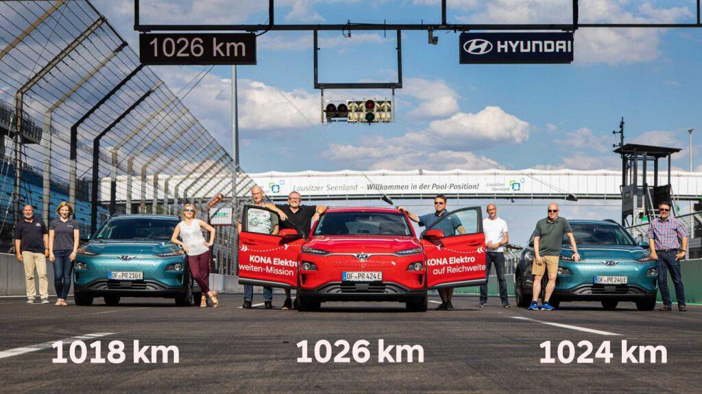 Запас хода Hyundai Kona Electric превысил 1000 км