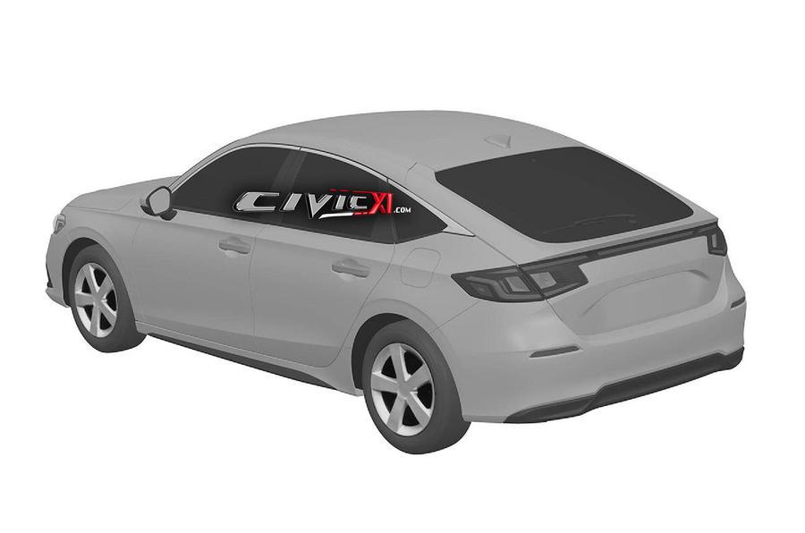 Honda Civic 2022 года представлена на патентных изображениях