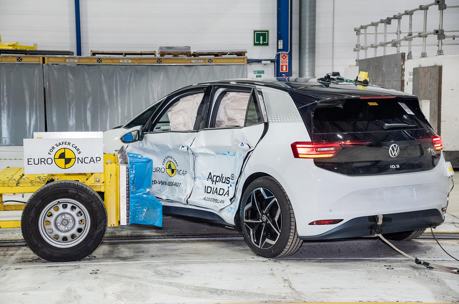Volkswagen ID 3 получил высшие оценки в тестах Euro NCAP