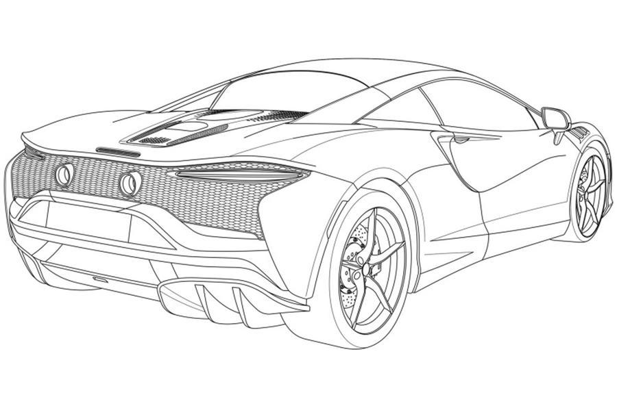 Новый гибрид McLaren показался на патентных рисунках