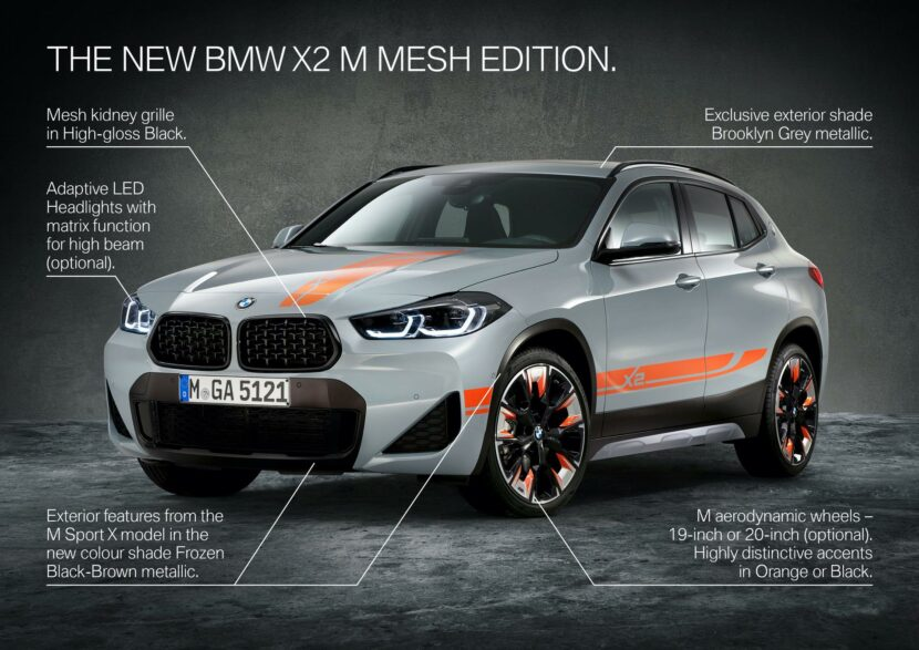 BMW выпустила «заряженный» кроссовер X2 M Mesh Edition
