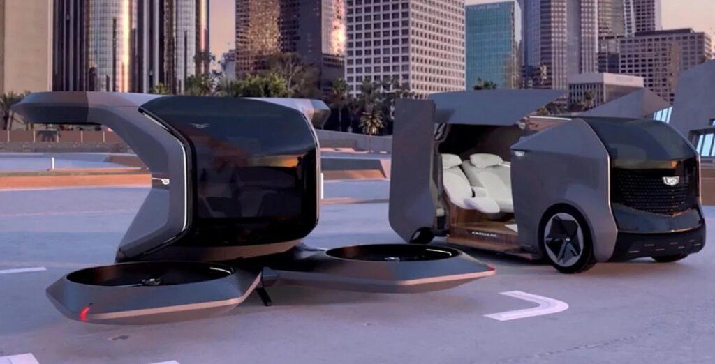 General Motors впервые представила футуристический летающий Cadillac