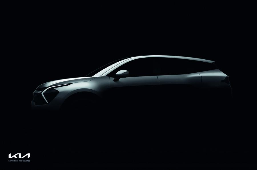 Kia опубликовала первые изображения кроссовера Kia Sportage 2022 модельного года